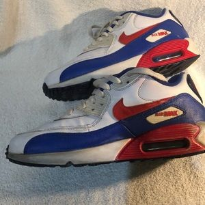 Nike Air Max 2015 Red White & Blue Size 7 Youth